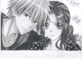 Usui and Misaki (second version) by Tatii-chan