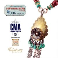 Southwestern Fusion Moon Necklace by popnicute