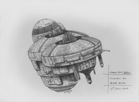 Concept Green Alien Space Station by SARGY001