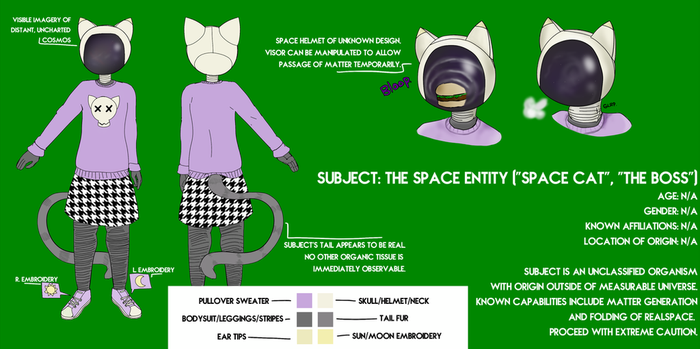 Space Entity: Reference and Datasheet by superspacezone