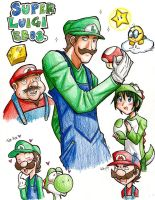 SUPER LUIGI BROS. by medli20