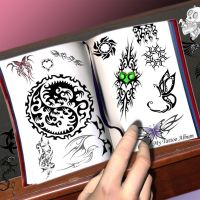 Tattoo Book by DarkShadow10537