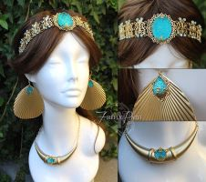 Princess Jasmine Crown and Accessories by Lillyxandra