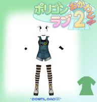 MMD Cute Overalls Outfit by Euphobea