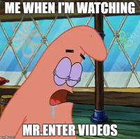 Patrick Sleeping Meme: Mr.Enter by G-Strike251