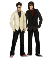 James Potter and Sirius Black by L1V1D