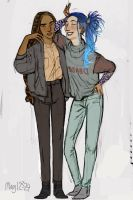 Nanu and Karou by may12324