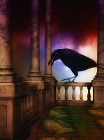 Raven Rising by oldhippieart