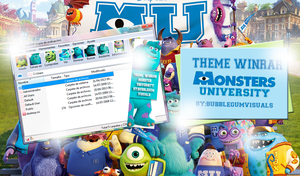 Theme Winrar Monster University by bubblegumvisuals