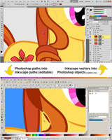 Photoshop Paths to Inkscape Paths to Photoshop Obj by adamlhumphreys