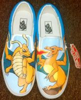 Dragonite Charizard Shoes by Brokenfeather-san