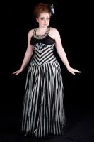 2010 Black and Silver striped underbust by Cuddlyparrot