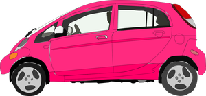Pink Mitsubishi i-miev electric car by OceanRailroader