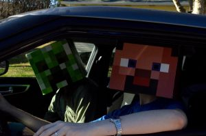 Minecraft - Driving by kairi-chan16