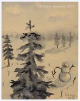Greeting Card - Winter Holidays - Watercolor by Oksana007