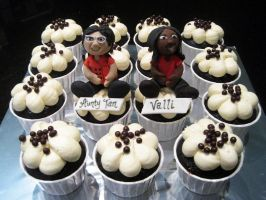 Figurine Cupcakes by Sliceofcake