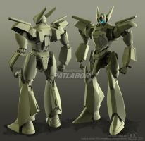 AV-X0 PATLABOR clay render by megatama