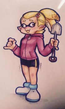 The Yellowist of Shades (Splatoon Colored Drawing) by Johnny-Inkling