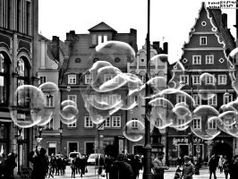 ''Plac Solny'' and bubbles by COREnick