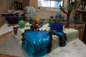 Camp Site Cake 2 by The-Ice-Flower