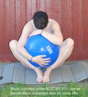 Big Blue Ball - Pose Reference for Drawing by SenshiStock