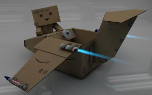 Danbo want to fly by Dracu-Teufel666