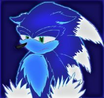 sonic the werehog by Dragon-fly3