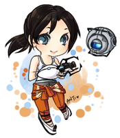 FA: Chell and Wheatley by Antikuu