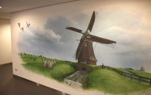 Windmill mural by RogerStork