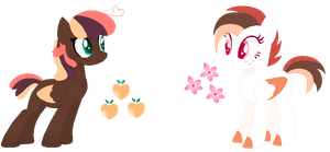 Peach Fuzz And Rare Bloom by GhostlyGardens
