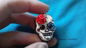 Day of the Dead Necklace by BeppasCreations