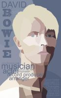 David Bowie Biography Poster by Triever