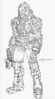 Dead Space : Heavy Duty Space Suit by hollowcorpse