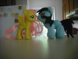 My mini Plush meets Fluttershy by SecludedOtaku