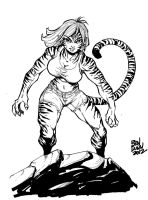 Tiger Girl original character commission by Dogsupreme