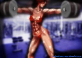 Muscle Bikini - Hard Workout by SavageSylva