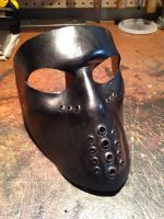 Black leather mask by Skinz-N-Hydez