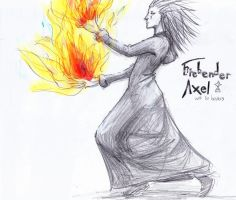 Firebender Axel by lady-leliel