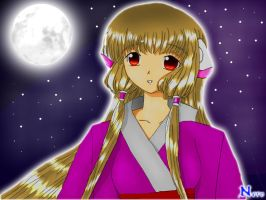 Chii in the moonlight by NeroNox