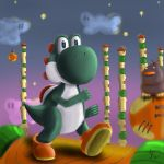 Yoshi in the tall tower by OrionGalahad