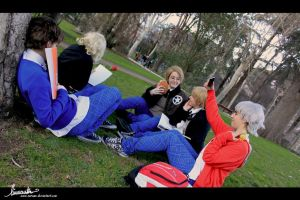 Cosplay APH Gakuen - Studying2 by 0-Aredhel-0
