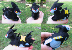 Luxray Bell Plush Commission by Soudaiya