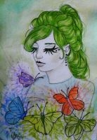 Butterfly Girl by paula-the-cat