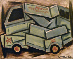 Mystery machine abstract cubism painting by TOMMERVIK