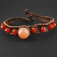 Carnelian and Copper Bracelet by sylva