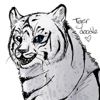 White Tiger Doodle by Alonaria