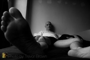 Putting My Foot Down by trevor-brown-artist