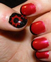 Gears of War Nails by LadySiha