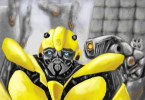 Transformers - Bumblebee in hard time by Bohy