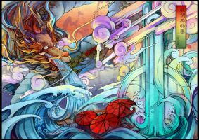 Original Illustration Theme one---Dragon by zxs1103